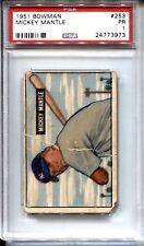 1951 Bowman Baseball #253 Mickey Mantle Rookie Card RC PSA 1
