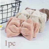 Cute Fluffy Hair Band Hairband Bath Spa Shower Makeup Velvet Headband Wrap