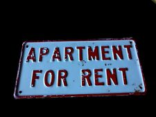 "Vintage  ""Apartment For Rent"" Original Sign"
