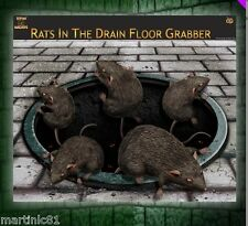 HALLOWEEN RATS IN THE DRAIN FLOOR CLING ON FLOOR RAT COMING OUT GROUND SCARY