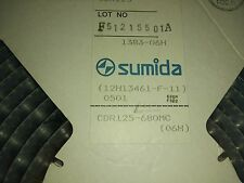 3x SUMIDA CDR125-680MC , FIXED INDUCTOR POWER, 68uH , 20%, 170 mOHM 1.26A , SMD