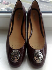 New GEOX RESPIRA  leather ballet flats shoes  cherry 9.5 10 US  40 EU  Italy
