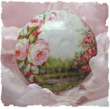 drawer GLORIOUS PINK ROSES door cabinet Ceramic knob Romantic desk office room