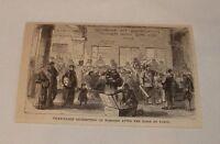 1879 magazine engraving ~ CHARITABLE REEMPTION oF PLEDGES, France