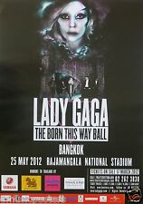 "LADY GAGA ""BORN THIS WAY BALL"" 2012 BANGKOK CONCERT TOUR POSTER FROM THAILAND"