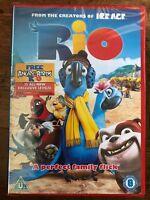 Rio DVD 2011 Bluesky Animated Brazilian Parrot Maccaw Family Comedy Movie BNIB
