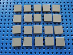 Lego 20 x Fliese Kachel 3068b  2x2   alt hellgrau   gebraucht