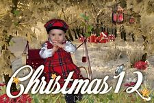 CH12 Christmas Backgrounds Children Baby Digital Holiday Props Frame Backdrops