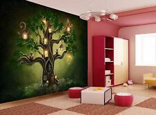 Fantasy tree house Wall Mural Photo Wallpaper GIANT WALL DECOR Poster Free Paste
