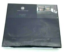 "Hotel Collection Queen Bedskirt Bedding Black 16"" Drop NIP"