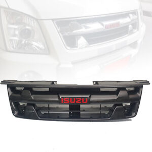 FRONT GRILLE GRILL CARBON RED LOGO FOR ISUZU D-MAX DMAX HOLDEN RODEO 2007-2011
