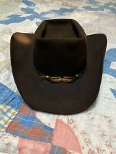Resistol XDoubleX Cowboy Hat 7 Vintage Hamley's Pendleton Self Conforming Brown