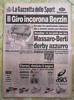 LA GAZZETTA DELLO SPORT N.137 DEL 13 GIUGNO 1994 - IL GIRO INCORONA BERZIN (GS3)