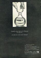 Q- Publicité Advertising 1969 Parfum Eau de Toilette Masumi de Coty