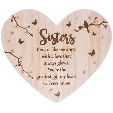 Sister Sentiment- Floral Heart plaque with verse 272071