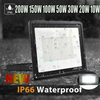10W-200W Bright LED Flood Light Outdoor Garden Yard Spotlight Lamp Cool White US