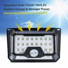 42 LED 4 Sides Solar PIR Motion Sensor Wall Light 3 Modes Outdoor Garden Lamp US