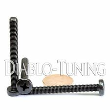 M5 x 45mm - Qty 10 - Phillips Pan Head Machine Screws - DIN 7985 A - Black Steel