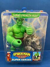 "SPIDER-MAN & FRIENDS SUPER HEROES Collection SUPER STRENGTH HULK 6"" VHTF new"