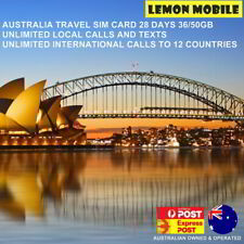 Australia Travel SIM Card |28 Days 36/50GB|Unlimited calls in Aus &to 12 nations
