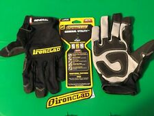 New Ironclad General Utility Palm High Grip Safety Box Shop Work Gloves S M L