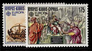 CYPRUS QEII SG586-587, 1982 Europa historical events, NH MINT.