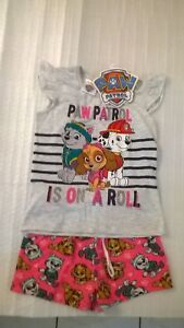 Paw Patrol / Summer P.J. Set / Girls / Sizes 2 And 5.