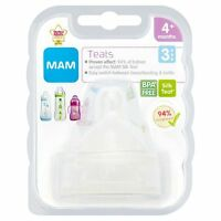 MAM Fast, Med, Slow, X Flow Teats Orthodontic for Bottles Silk Teat Pack of 2