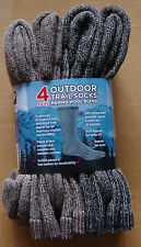 4 Pair Mens Womens 70% Merino Wool Blend Hiking Hunting Trail Socks USA Made L