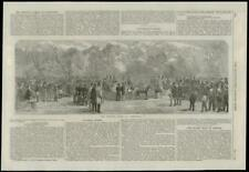 1868 ANTIQUE PRINT FRANCE COMPIEGNE Hunting Party (187)