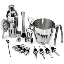 Bar Accessories Kit Stainless Steel Wine and Cocktail Bar Set 16 Piece