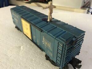Postwar Lionel # 3424 Wabash Operating Brakeman car & accessories No Reserve  !