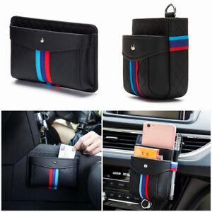 PU Storage Bag Phone Holder Organizer Box for BMW M Sport Seat Crevice Air Vent