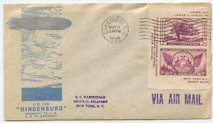 USA Zeppelin Brief Lakehurst New York 1936