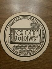 Beer Coaster: BOX OFFICE Brewery ~*~ Dekalb, ILLINOIS ** Operated from 1994-1998