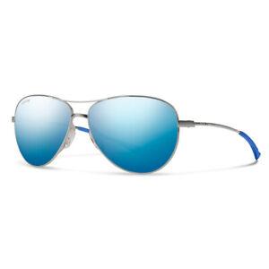 Smith Langley Matte Ruthenium Sunglasses w/ Polarized Blue Mirror Lens