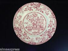"Rare Myott Staffordshire England China RED Indiana - 9"" DINNER PLATE"