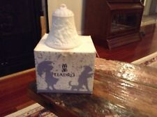Vintage Lladro 1996 Porcelain Bisque Christmas Bell With Box