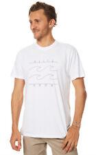 "BRAND NEW + TAG BILLABONG MENS (XXL) ""PINLINE"" SURF T-SHIRT TEE TOP WHITE BNWT"