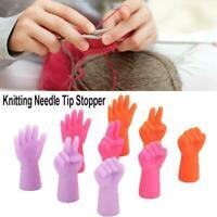 6Pcs/Set Knitting Needles Point Stopper Needle Tip Sewing Protectors Weave E3B0
