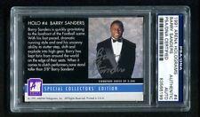 1991 Arean Holograms BARRY SANDERS Auto Autograph Signed #4 PSA/DNA