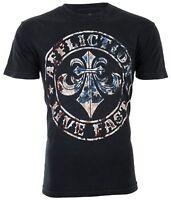 AFFLICTION Mens T-Shirt DIVIO AMERICANA American USA FLAG Biker Fighter $58
