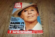 Bild und Funk Nr.9/1972 TB Inge M.,Bambi 72,Jack Lord,Raimund Harmstorf,Anita