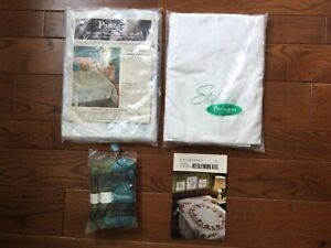 Vintage Paragon Quilt Kit SNOWFLOWER Single Bed Size (66x98) +Backing, Floss NIP