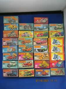 """MATCHBOX """"SUPERFAST"""" LOT IN BOXES THIRTY (30) PIECES"""