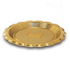 Vassoio tondo oro monoporzione in plastica mini medoro 100 pz PASTICCERIA 6 cm