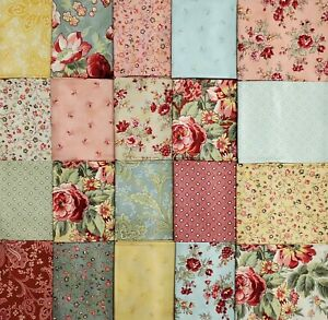 Squares Sheets Printed Floral Sewing Supplies for Patchwork Sewing DIY Crafting Quilting 77pcs Quilting Cotton Craft Fabric Bundle 100/% Cotton - 25cm x 24cm