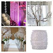 NEW 99FT/30M Roll Garland Diamond Strand Acrylic Crystal Bead Wedding Decoration