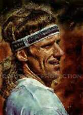 New & Rare Bjorn Borg Tennis Art Print, 12x18, signed and numbered by artist