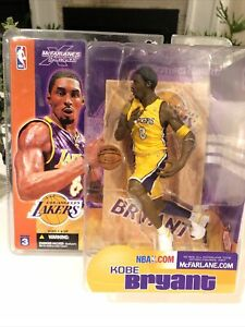 2003 Kobe Bryant NBA Series 3 McFarlane Los Angeles Lakers Action Figure Yellow